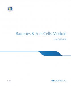 آموزش کامسول - زبان اصلی - راهنمای باتری ها و سلول های سوختی Batteries & Fuel Cells