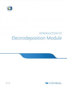 آموزش کامسول - زبان اصلی - مقدمه راهنمای لایه نشانی و آبکاری Electrodeposition