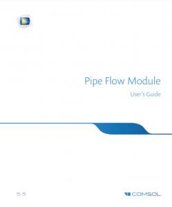 آموزش کامسول - زبان اصلی – جریان در لوله Pipe Flow
