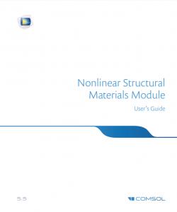 آموزش کامسول - زبان اصلی – مواد با ساختار غیرخطی Nonlinear Structural Materials - Shortcut