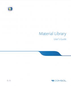آموزش کامسول - زبان اصلی – کتابخانه مواد Material Library