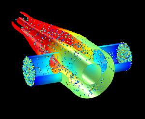 جریان ملکولی Molecular Flow آموزش کامسول comsol