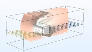 حرکت سیال در محیط متخلخل Porous Media Flow کامسول comsol