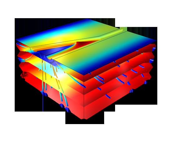 جریان زیر زمینی Subsurface Flow کامسول comsol